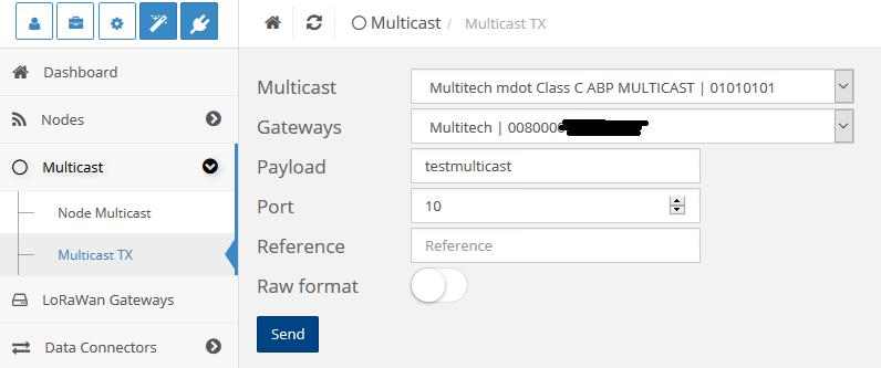 ResIOT LoRaWan Multicast