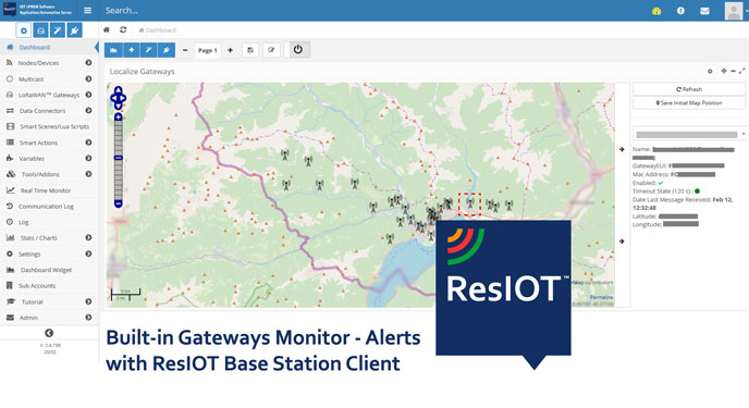 ResIOT io™ - LoRaWAN Network Server and IoT Platform